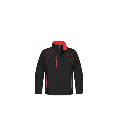 Stormtech Mens Crew Softshell Jacket (Black/Red) - UTBC1169