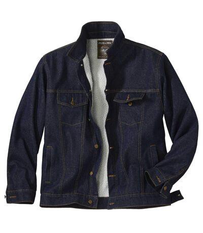 Džínová bunda Western zateplená umělým beránkem