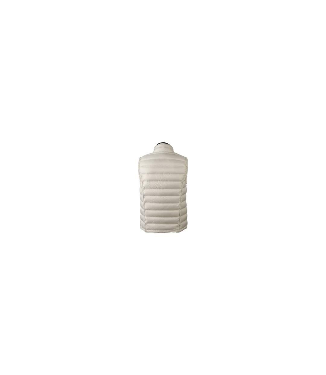 Gilet sans manche matelassé duvet HOMME - JN1080 blanc cassé - doudoune anorak