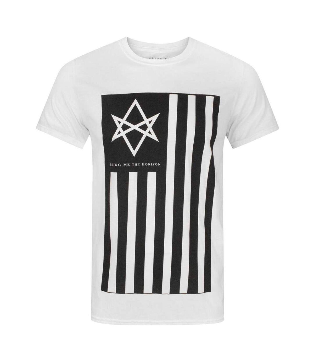 Bring Me The Horizon Mens Antivist T-Shirt (White/Black) - UTNS5474