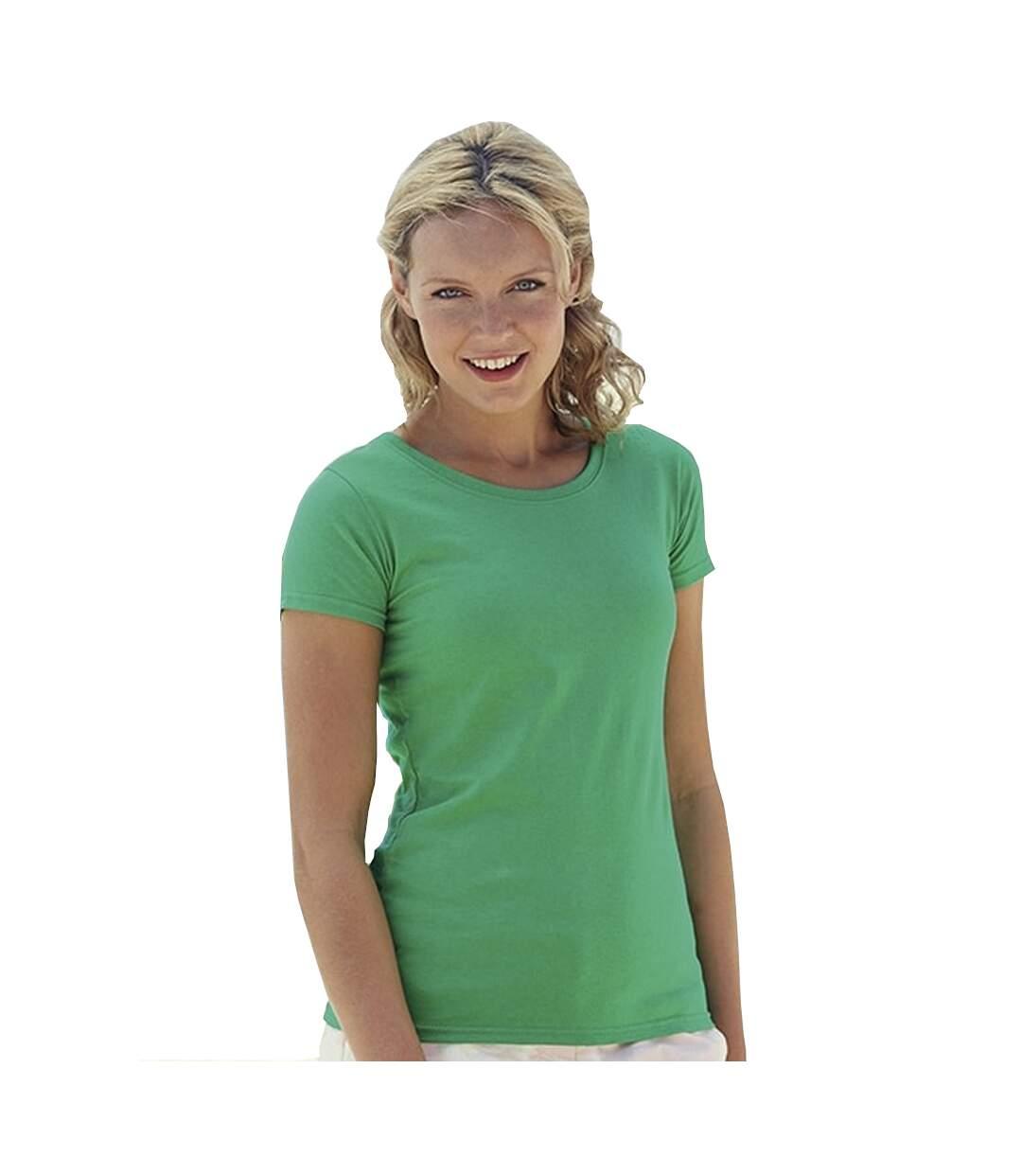Dégagement Fruit Of The Loom T-Shirt Manches Courtes Femme Rose clair UTBC1354 dsf.d455nksdKLFHG