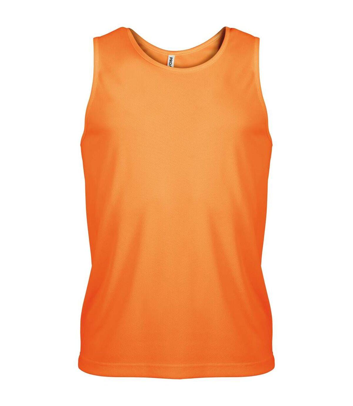 Kariban Proact Mens Sleeveless Sports Training Vest (Orange) - UTRW2719