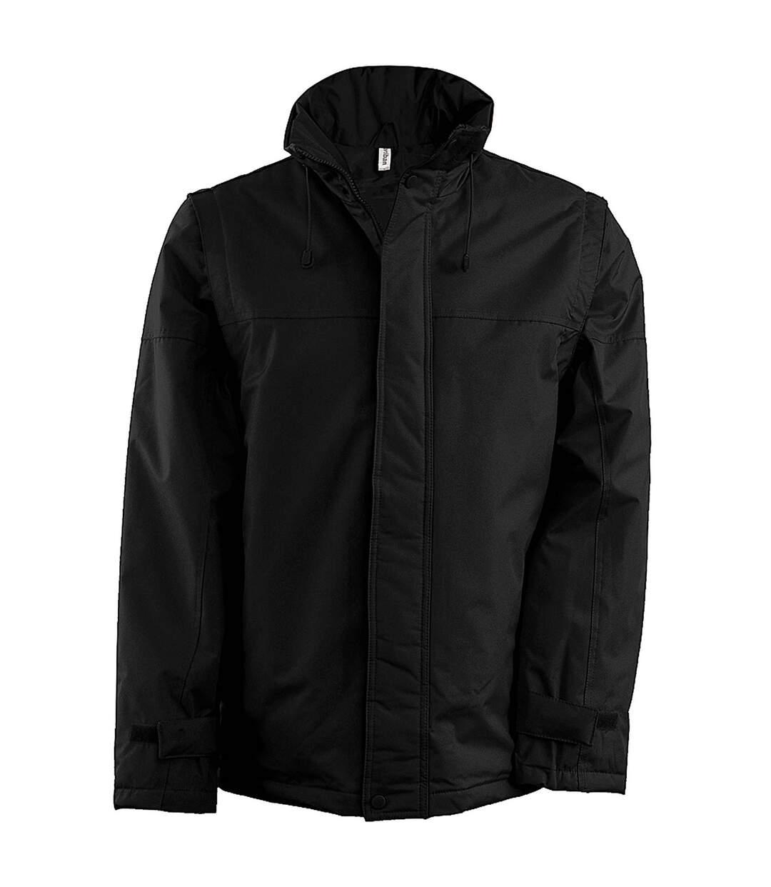 Kariban Mens Zip-Off Sleeve Jacket (Black/Black) - UTRW734