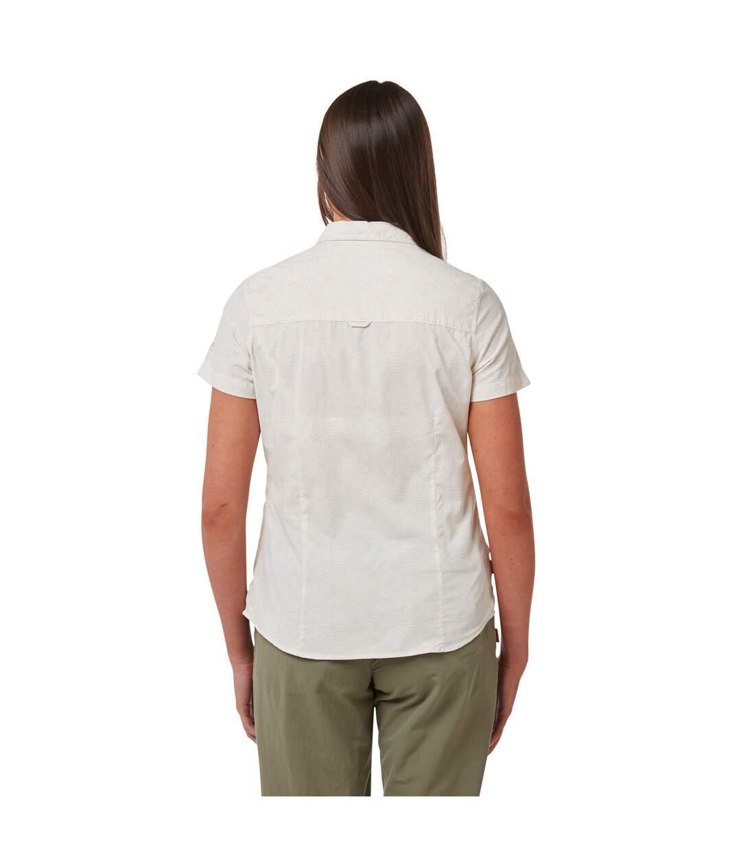 Craghoppers - Chemise Manches Courtes Vanna - Femme (Blanc cassé) - UTCG1307