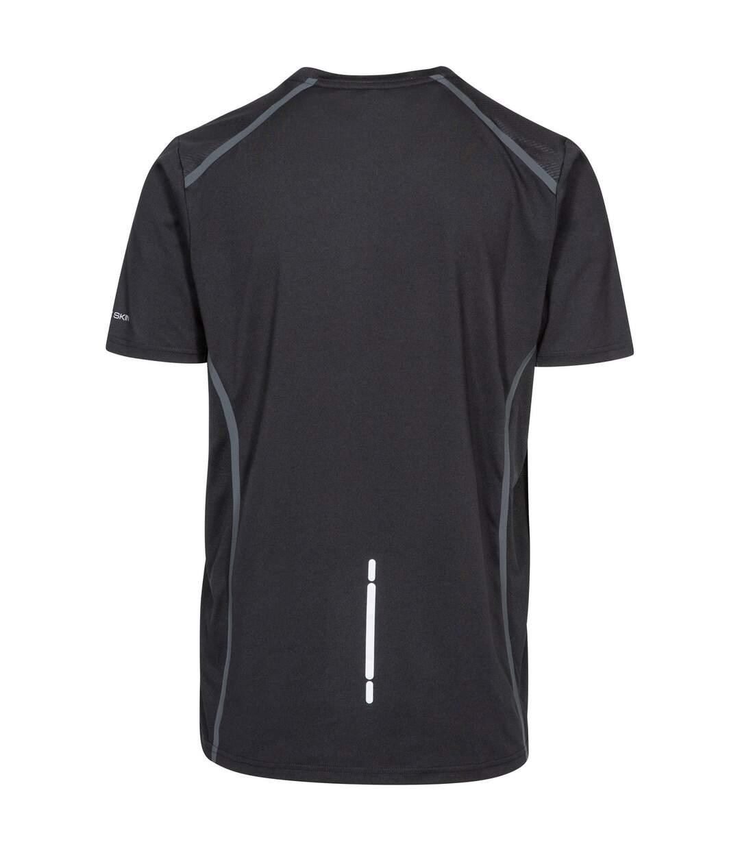 Trespass Mens Menzie Short Sleeve Active T-Shirt (Black) - UTTP4136