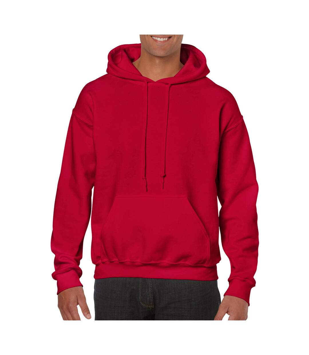 Gildan Heavy Blend Adult Unisex Hooded Sweatshirt / Hoodie (Cherry Red) - UTBC468
