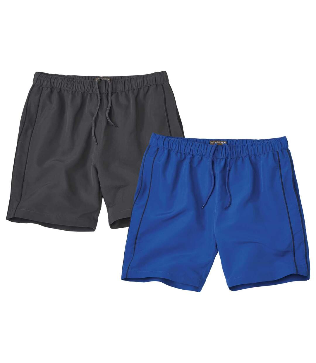 Pack of 2 Pairs of Men's Swim Shorts - Blue Grey