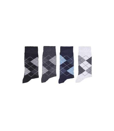 Lot de 4 paires de chaussettes INTARSIA homme
