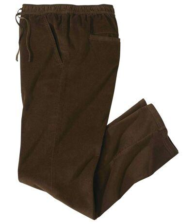 Men's Brown Stretch Corduroy Trousers