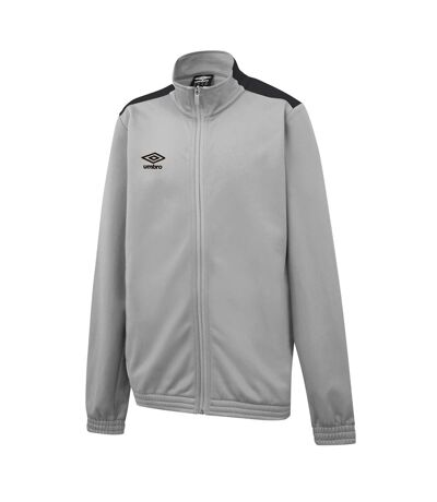 Umbro Mens Knitted Jacket (High Rise Grey/Carbon Grey) - UTGD101