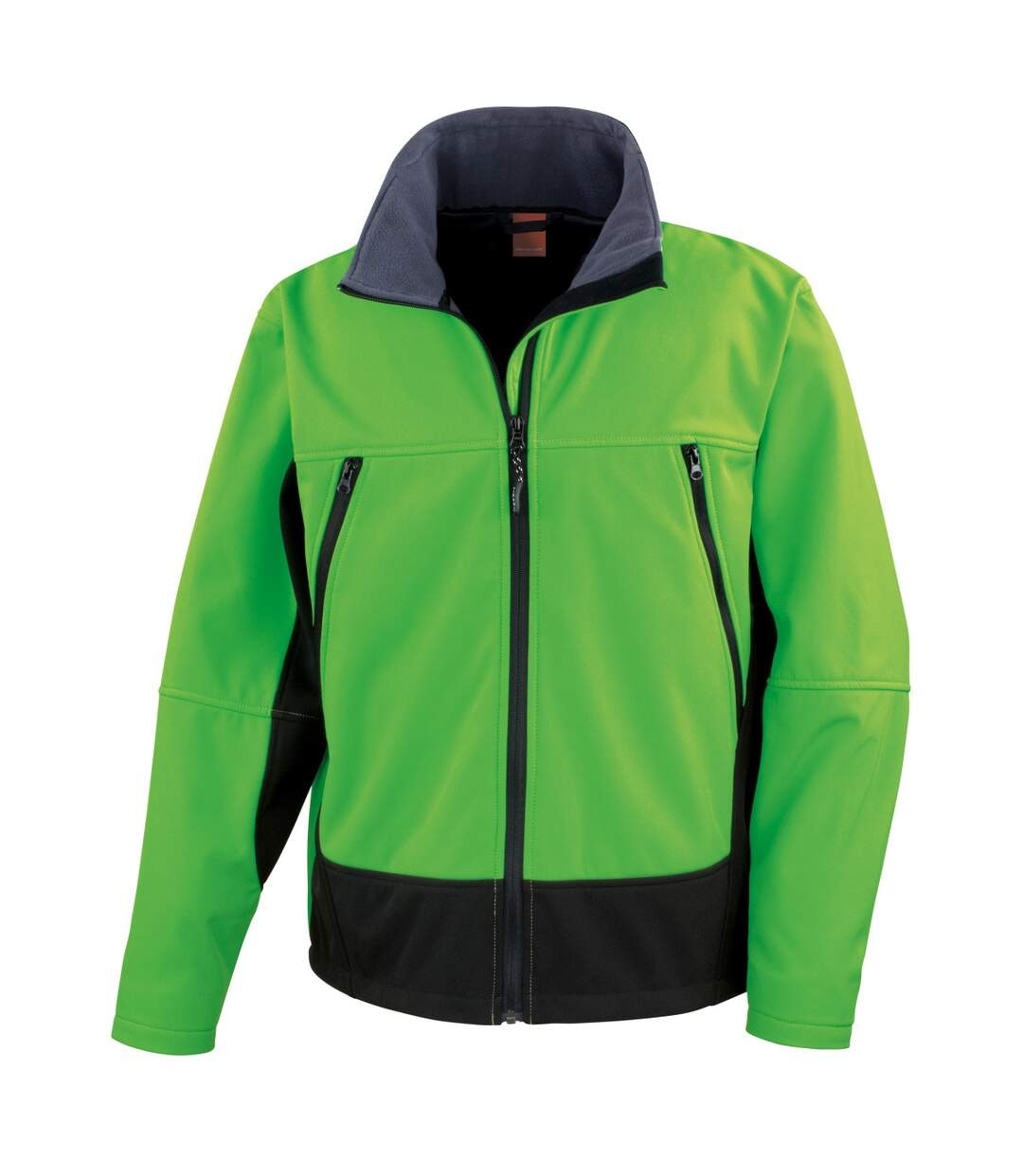 Result Mens Softshell Activity Waterproof Windproof Jacket (Vivid Green/Black) - UTBC856
