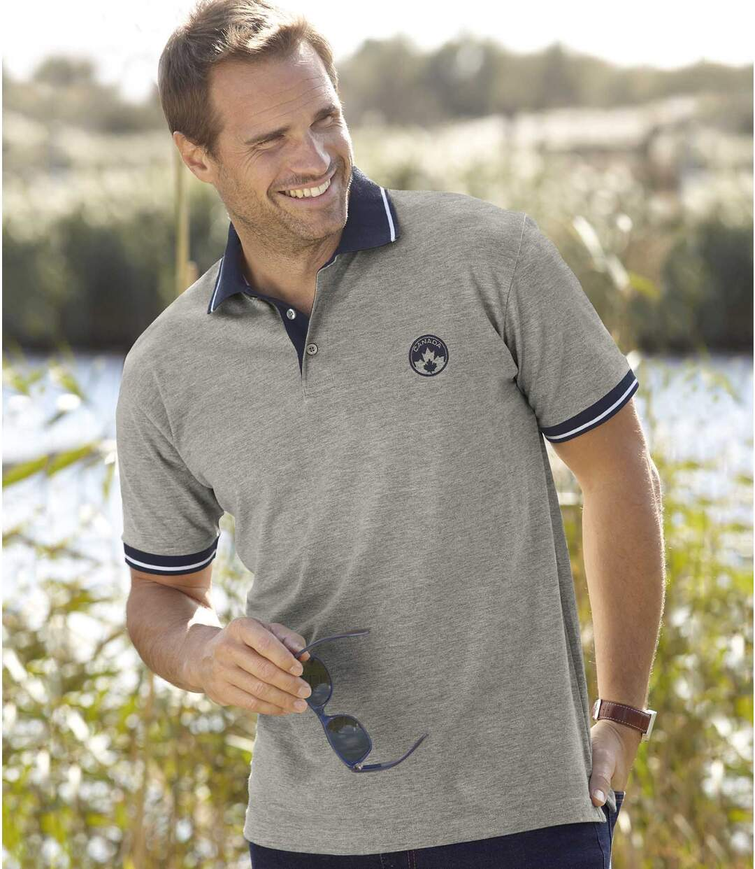 2er-Pack Poloshirts Canada Nature
