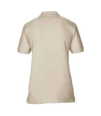 Gildan Mens Premium Cotton Sport Double Pique Polo Shirt (Sand) - UTBC3194