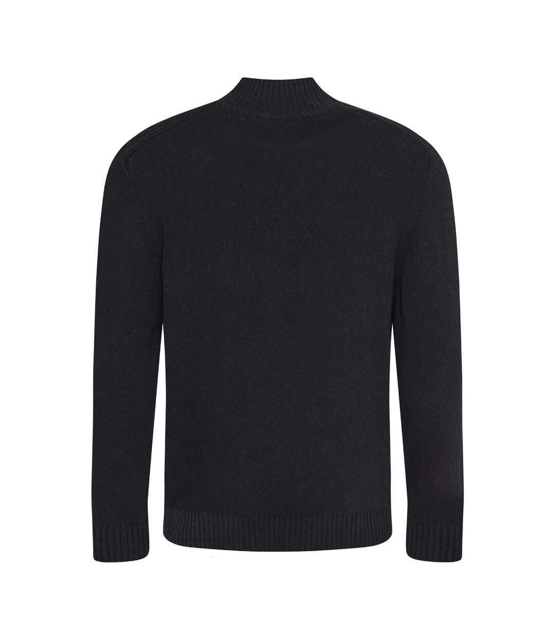 Ecologie Mens Wakhan Zip Neck Sweater (Black) - UTPC3065