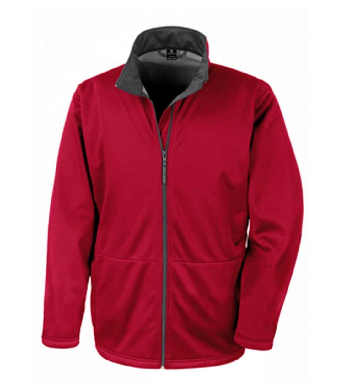 Veste softshell HOMME doublée micropolaire R209M - rouge