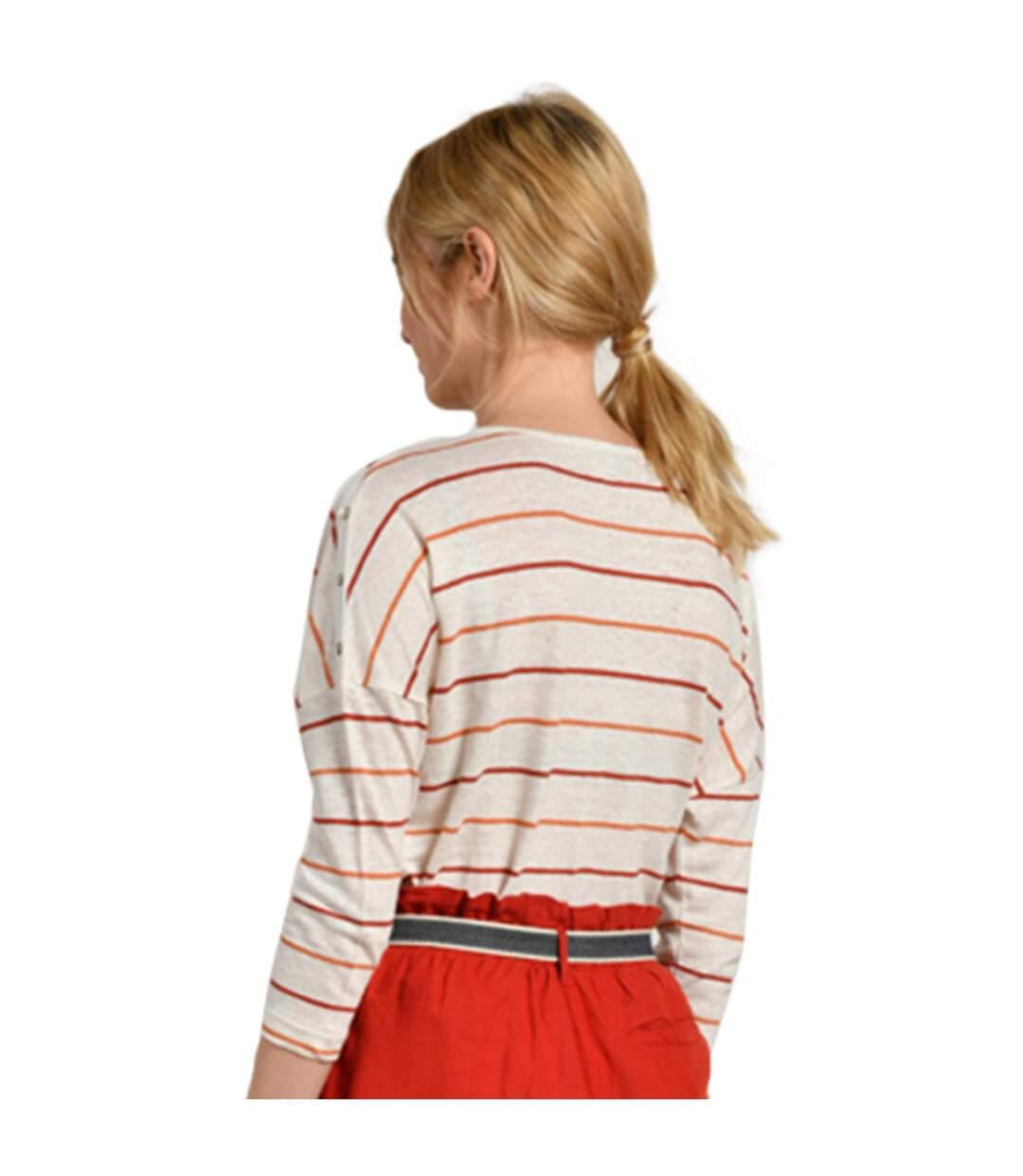 Dégagement Mat de Misaine T-shirt rayé à manches longues MILA  Femme dsf.d455nksdKLFHG