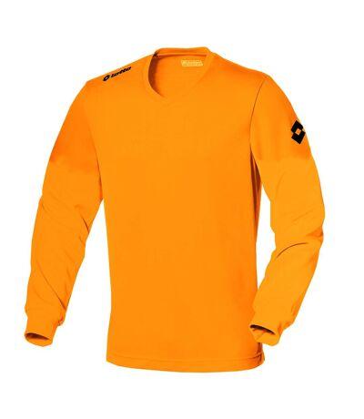 Lotto Mens Football Jersey Long Sleeve Team Evo Sports V Shirt (Fluo Fanta) - UTRW2074