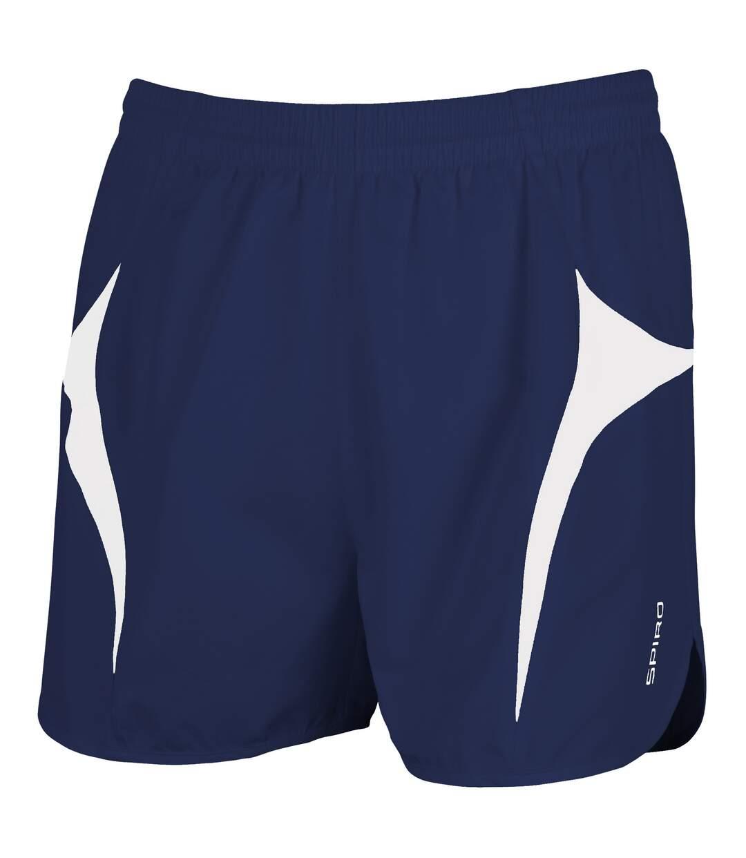 Spiro Mens Sports Micro-Lite Running Shorts (Black/Red) - UTRW1477