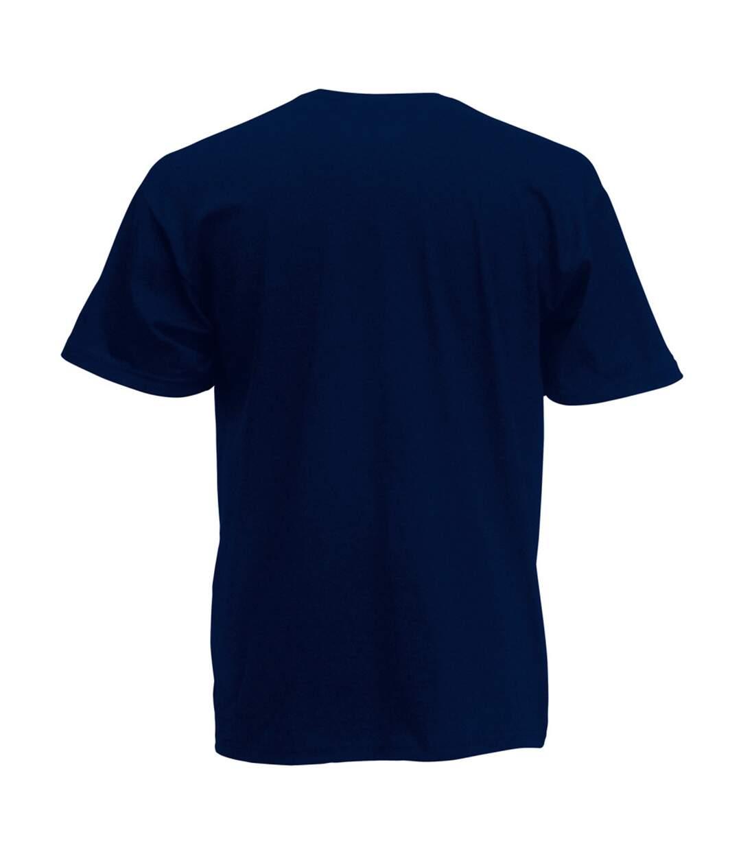 Mens Short Sleeve Casual T-Shirt (Midnight Blue) - UTBC3904