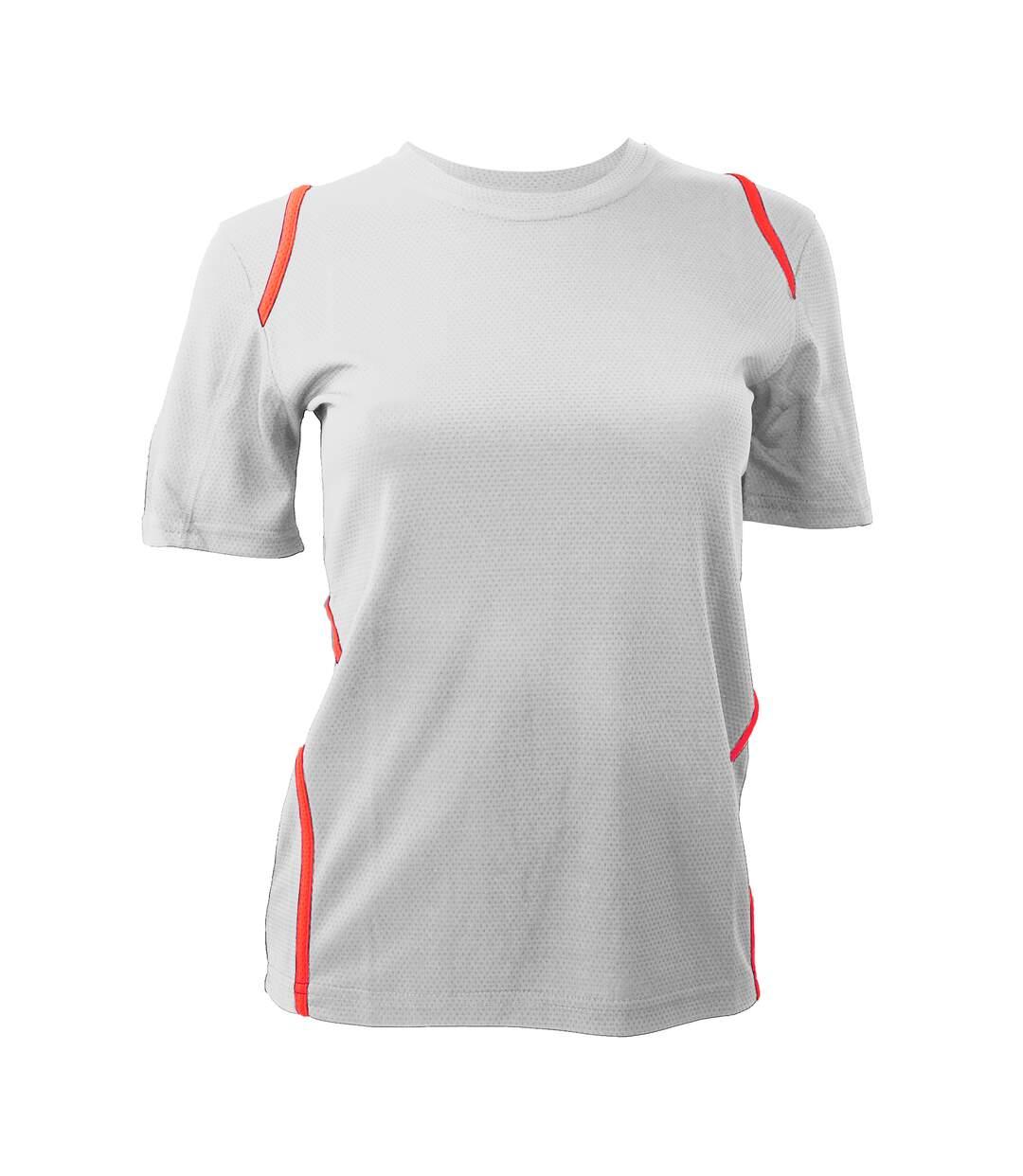 Gamegear Cooltex - T-Shirt - Femme (Blanc/Rouge) - UTBC428