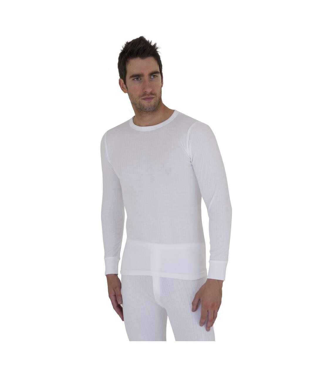 T-shirt thermique à manches longues - Homme (Blanc) - UTTHERM12