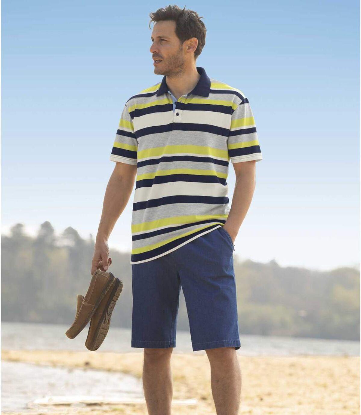 Men's Casual Blue Denim Shorts Atlas For Men