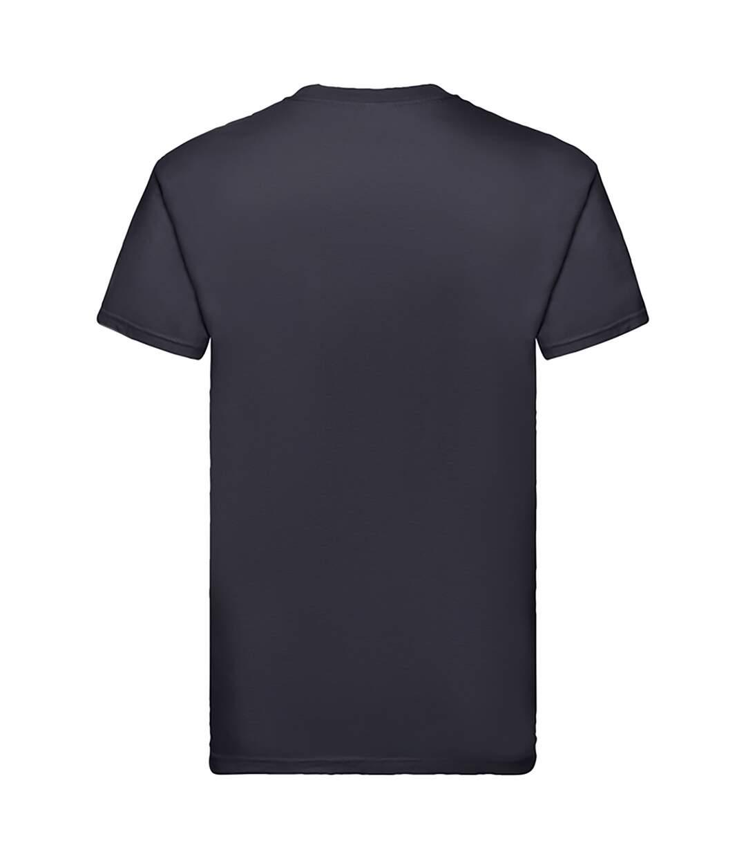 Fruit Of The Loom Mens Super Premium Short Sleeve Crew Neck T-Shirt (Bottle Green) - UTBC333