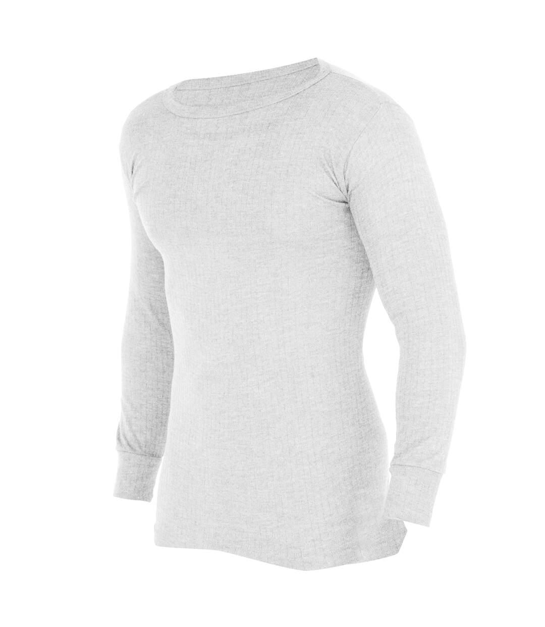 FLOSO -  T-shirt thermique à manches longues (en viscose) - Homme (Blanc) - UTTHERM107