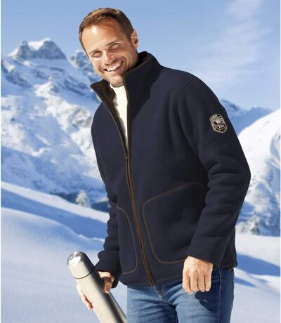 Winter Time fleecevest met sherpa