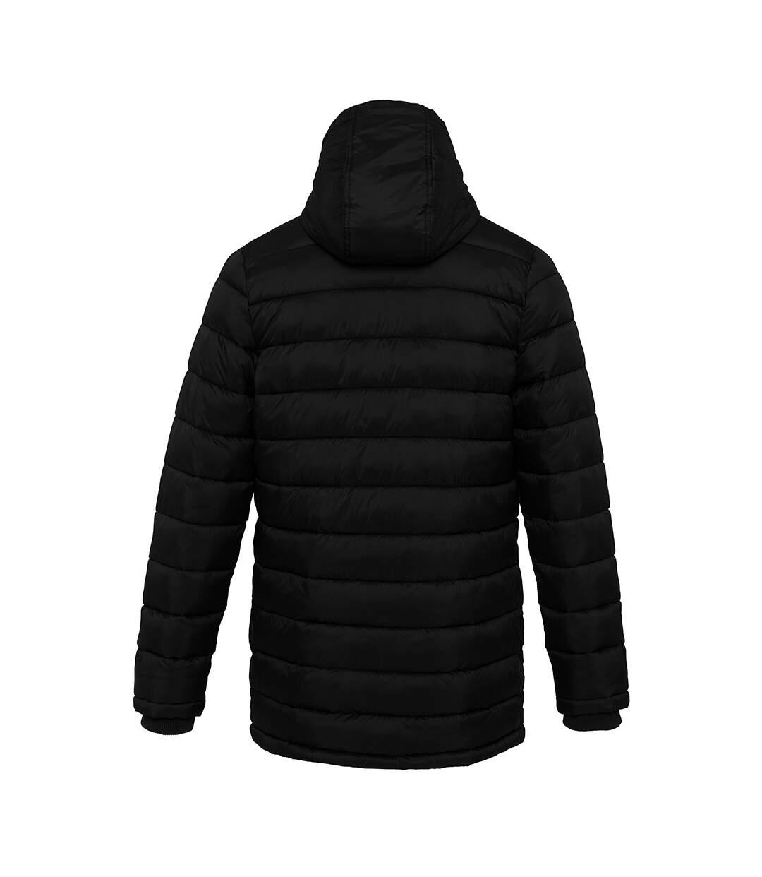 Kariban Mens Lightweight Long Padded Parka Jacket (Black) - UTPC3823