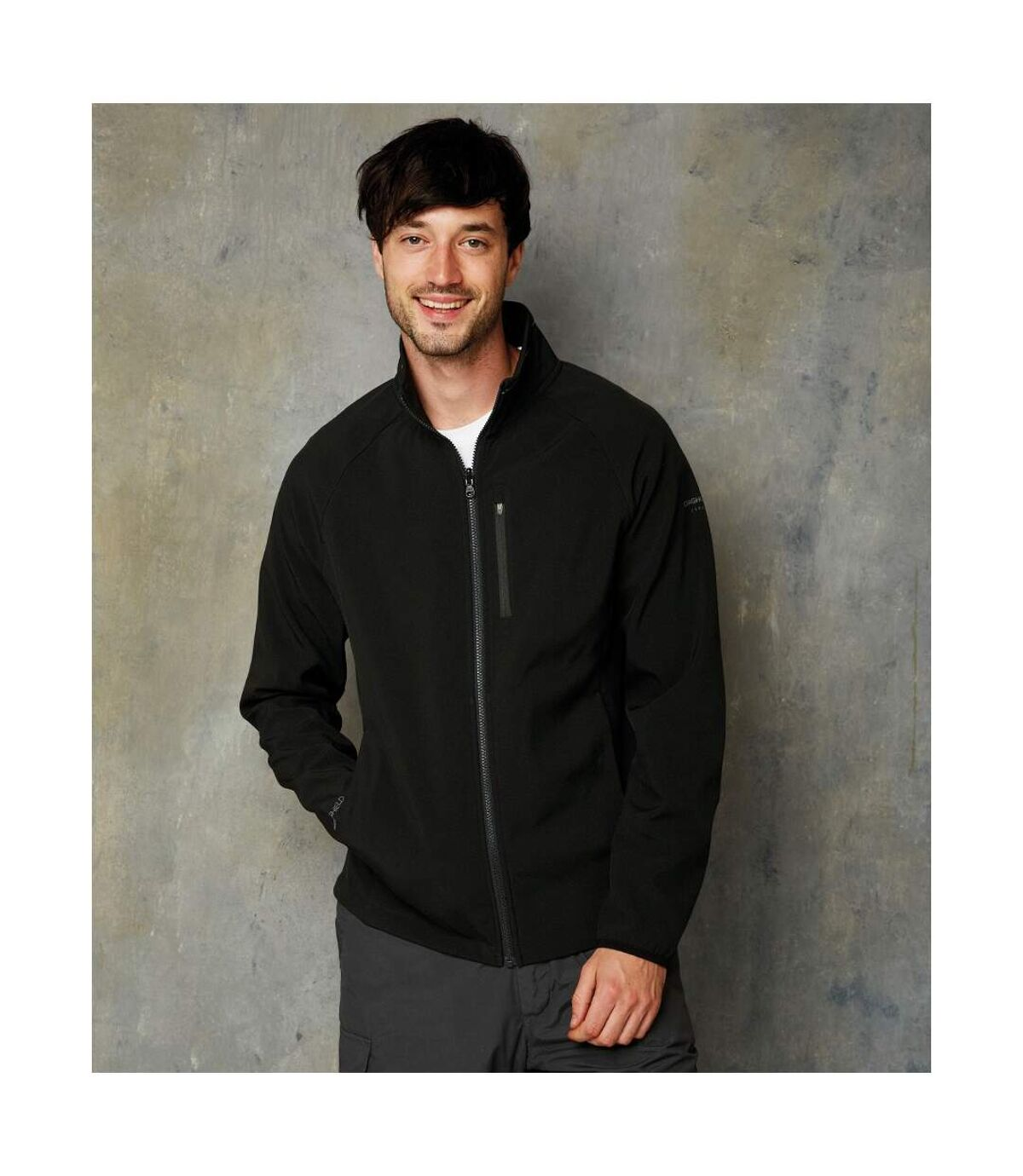 Craghoppers Mens Expert Soft Shell Jacket (Black) - UTPC2844