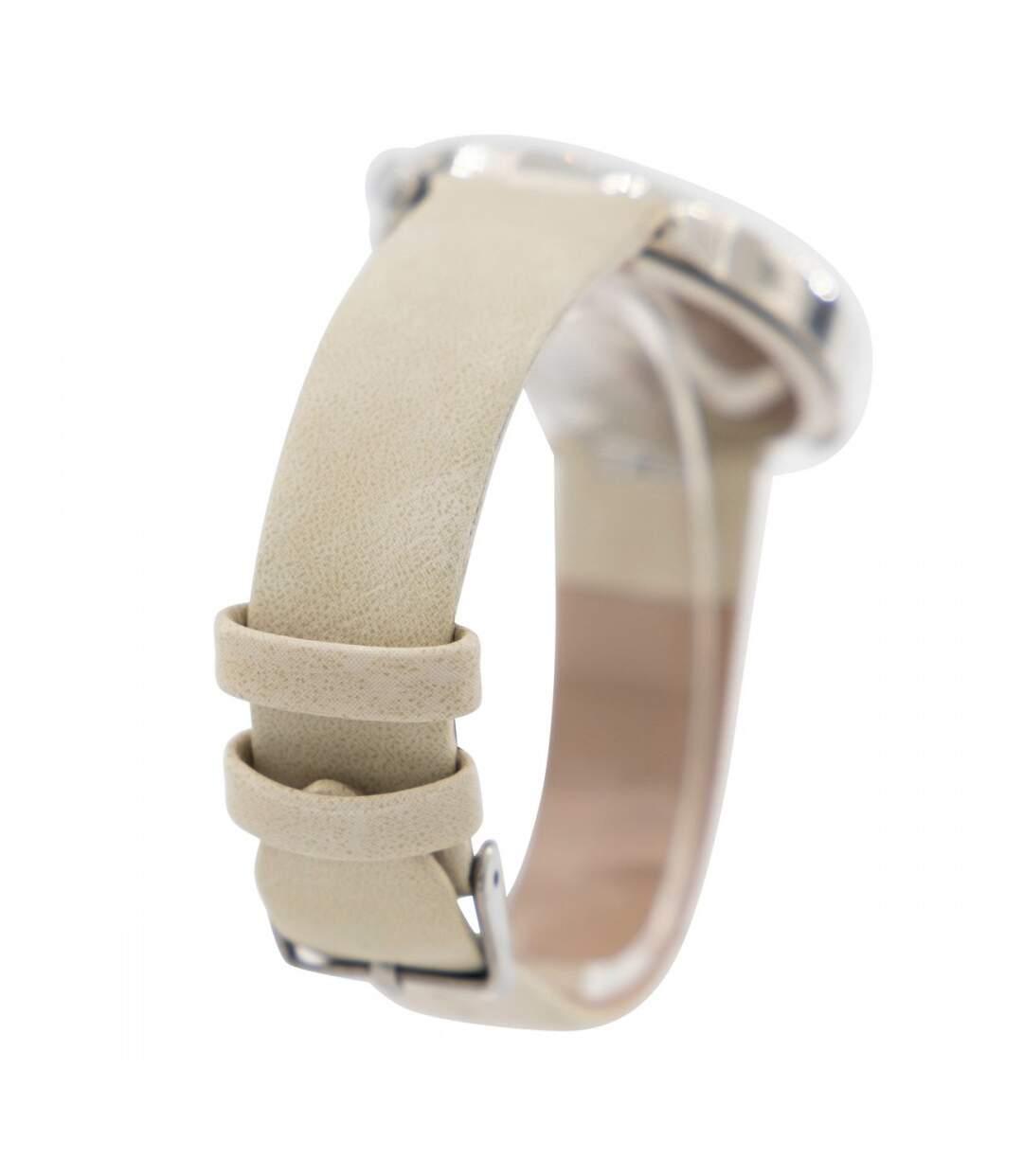 Dégagement Montre Femme M. JOHN bracelet Cuir Blanc dsf.d455nksdKLFHG