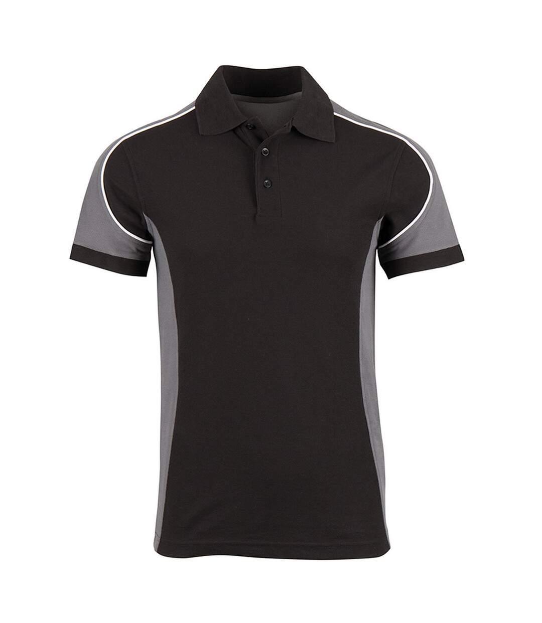 Alexandra Mens Tungsten Work Polo Shirt (Grey/White/Black) - UTRW6055