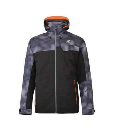 Dare 2b Mens Anomaly Waterproof Breathable Ski Jacket (Black/Black Digital) (XXL) - UTRG4808