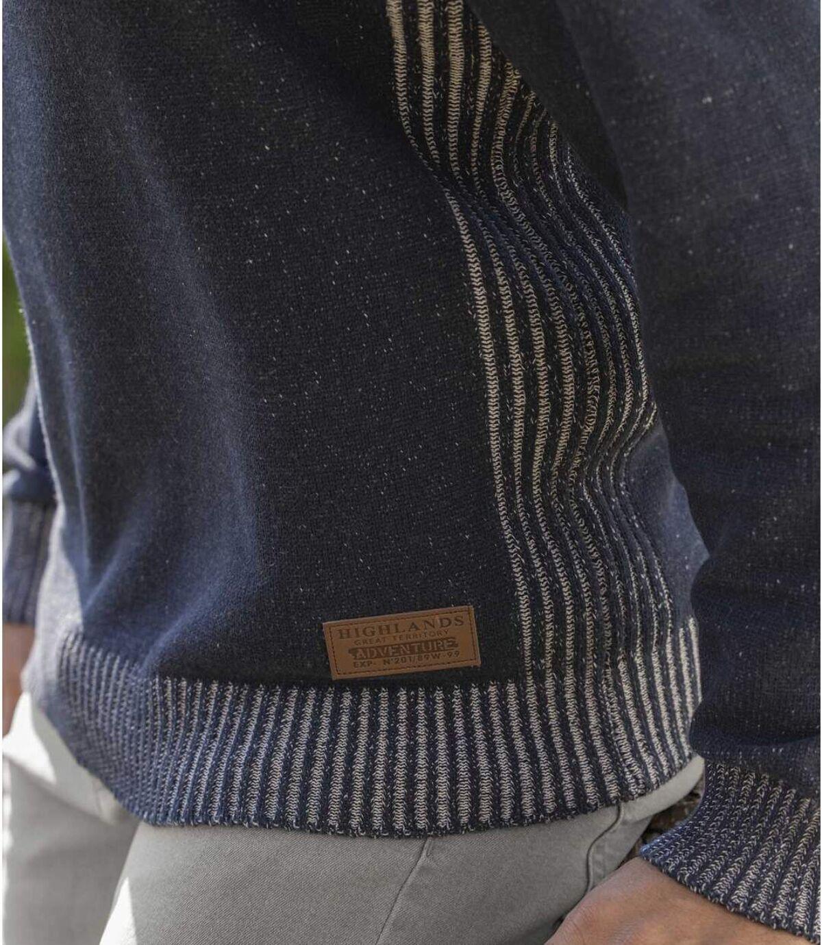 Katoenen trui met schipperskraag  Atlas For Men