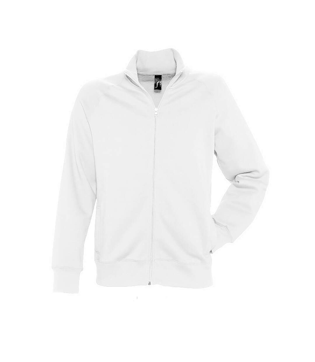 SOLS Mens Sundae Full Zip Sweat Jacket (White) - UTPC408