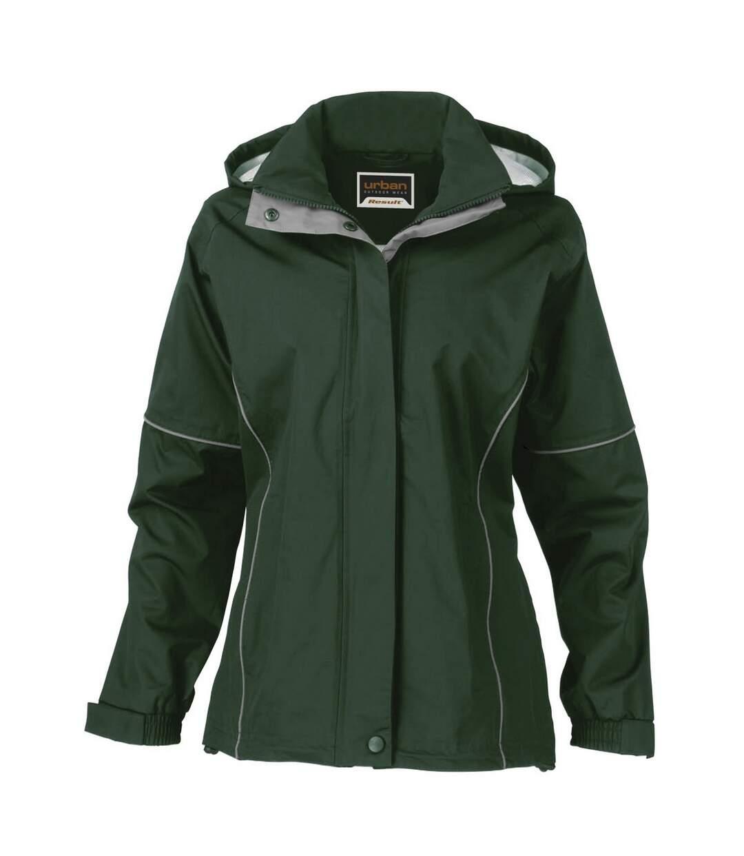 Result Womens/Ladies Urban Outdoor La Femme® Lightweight Technical Jacket (Waterproof & Windproof) (Black) - UTRW3243