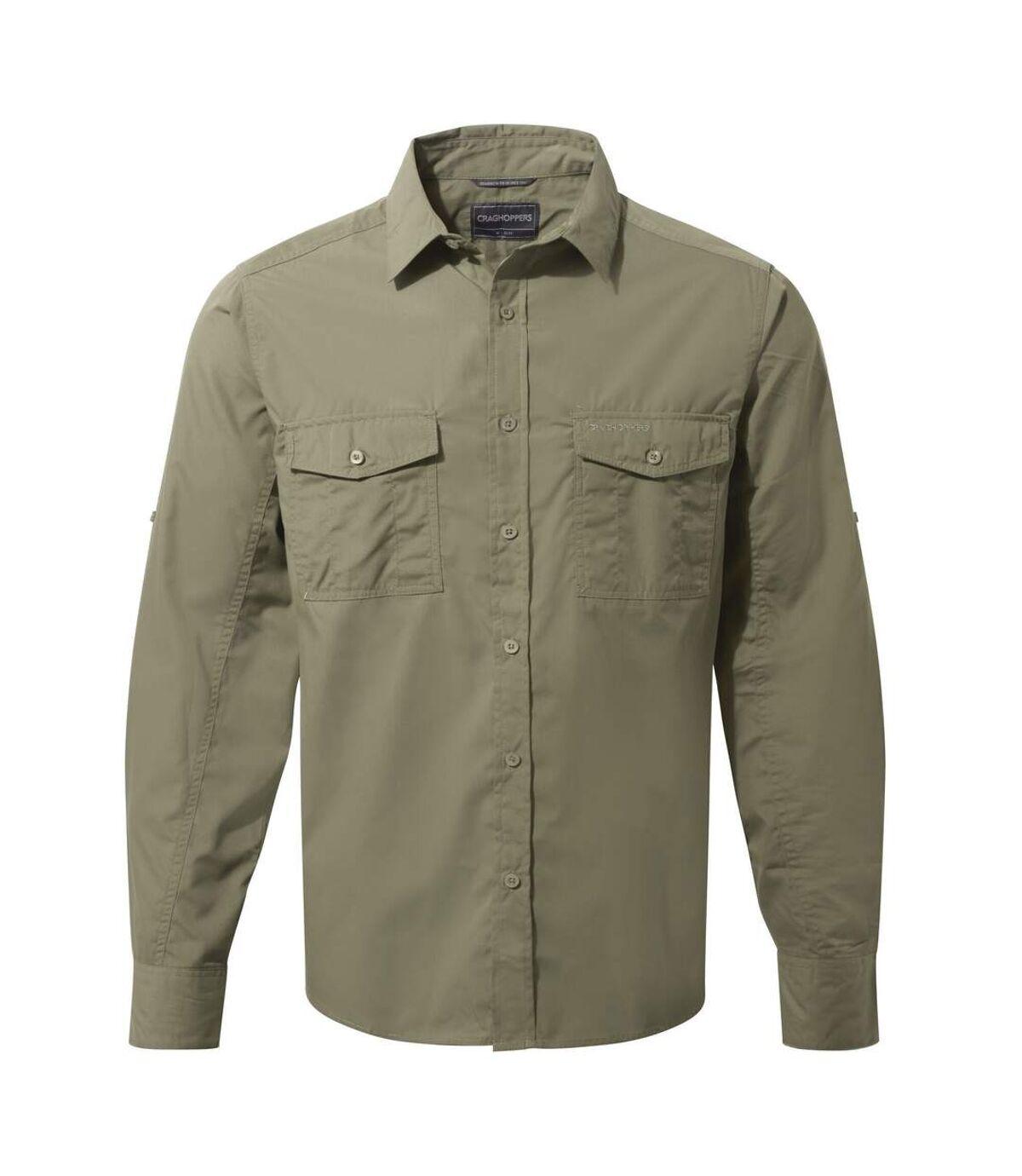 Craghoppers Mens Kiwi Long-Sleeved Shirt (Pebble Grey) - UTCG1500