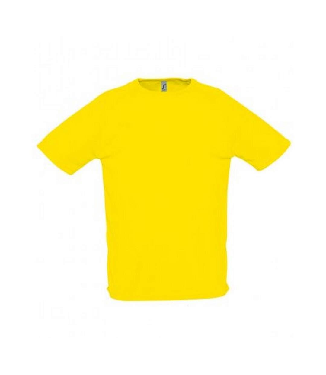 SOLS Mens Sporty Short Sleeve Performance T-Shirt (Lemon) - UTPC303