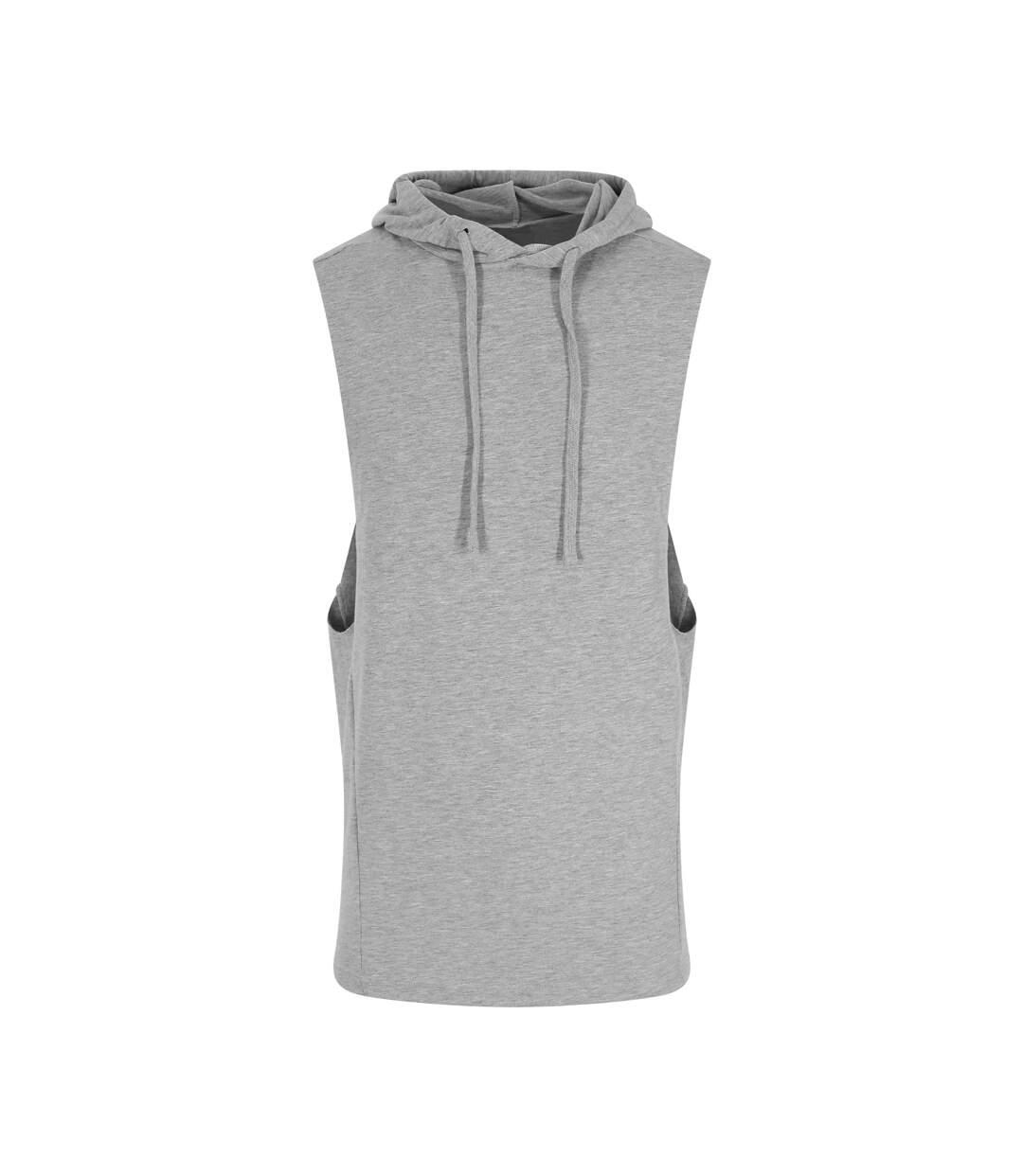 AWDis Adults Unisex Just Cool Urban Sleeveless Muscle Hoodie (Sport Grey) - UTPC3902
