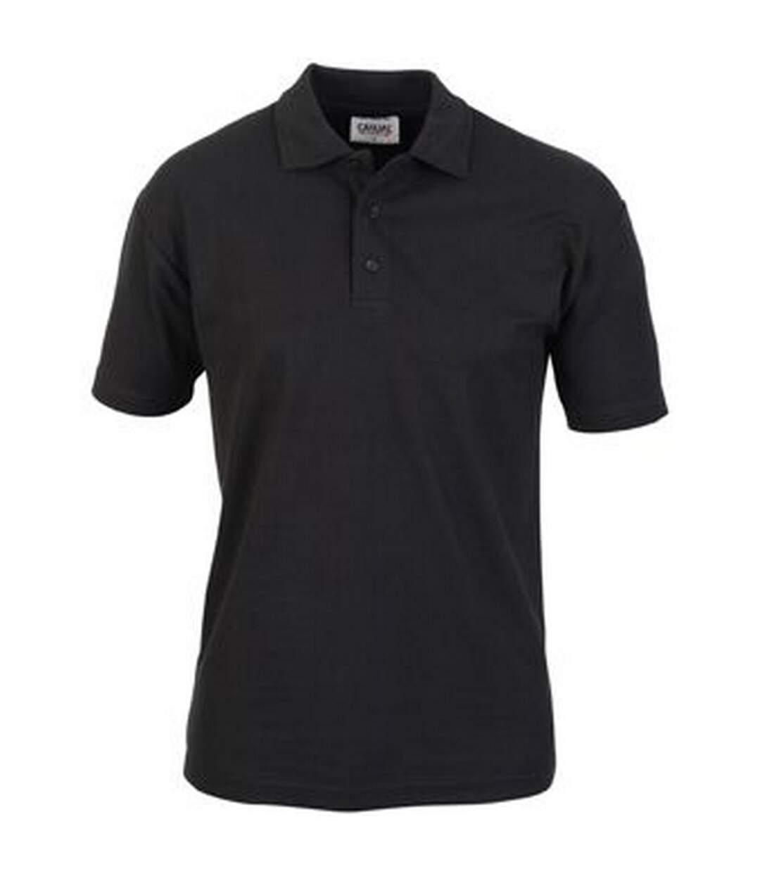 Casual Classic Mens Pique Polo (Black) - UTAB252