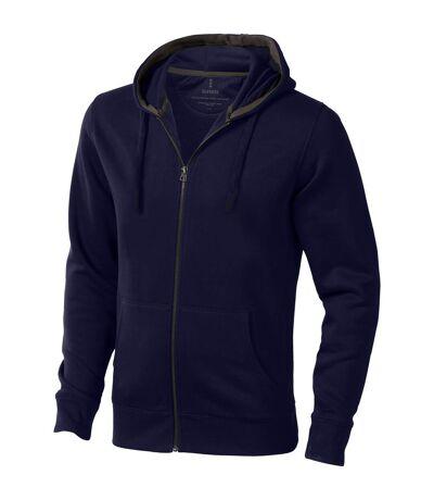 Elevate Mens Arora Hooded Full Zip Sweater (Navy) - UTPF1850