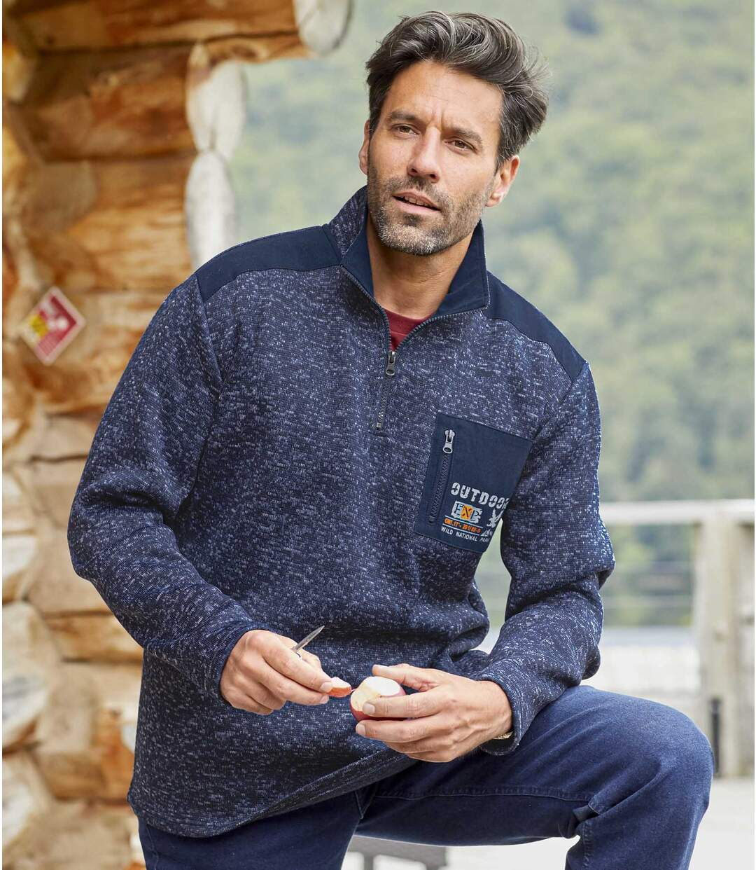 Sweater van molton Atlas® Outdoor