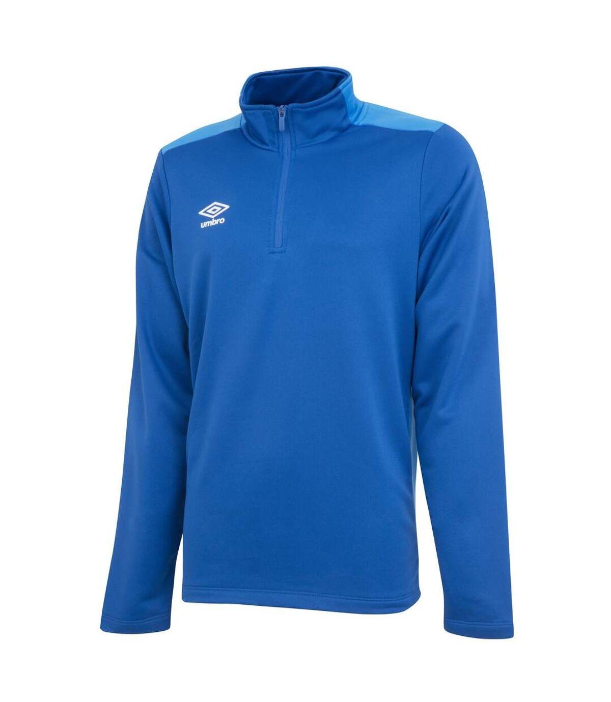 Umbro Mens Half Zip Sweatshirt (Royal Blue/French Blue) - UTGD107
