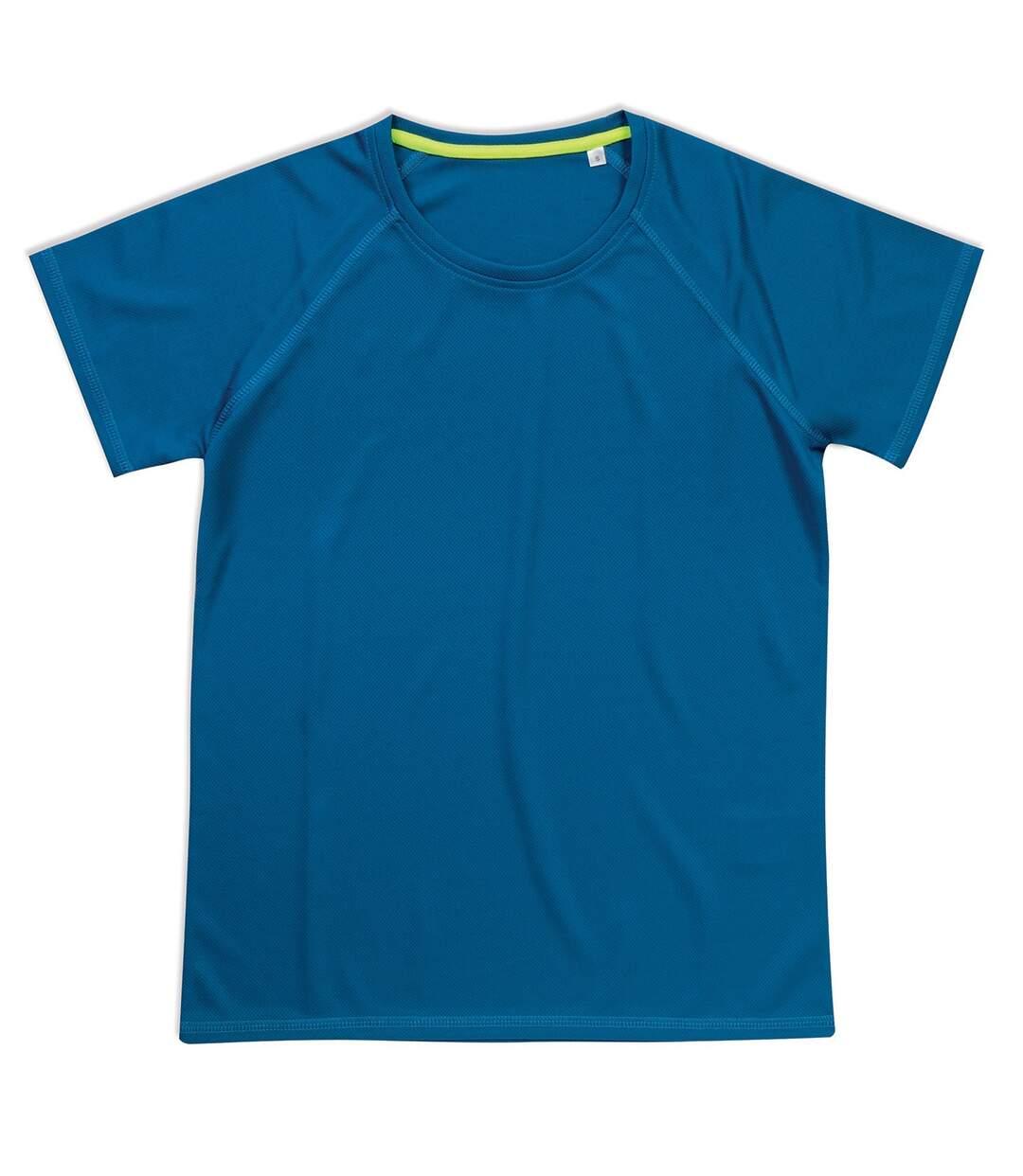 Stedman Womens/Ladies Raglan Mesh T-Shirt (Blue) - UTAB347