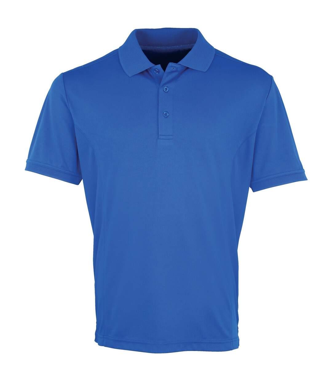 Premier Mens Coolchecker Pique Short Sleeve Polo T-Shirt (Royal) - UTRW4401
