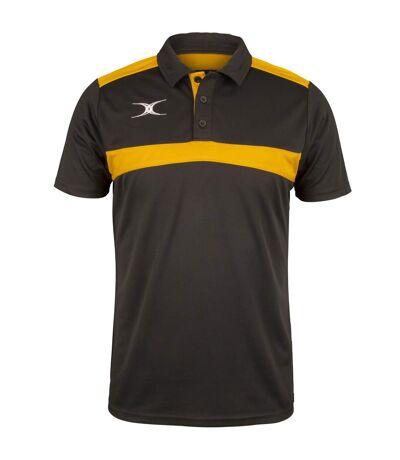 Gilbert Mens Photon Polo Shirt (Black/Gold) - UTRW6630