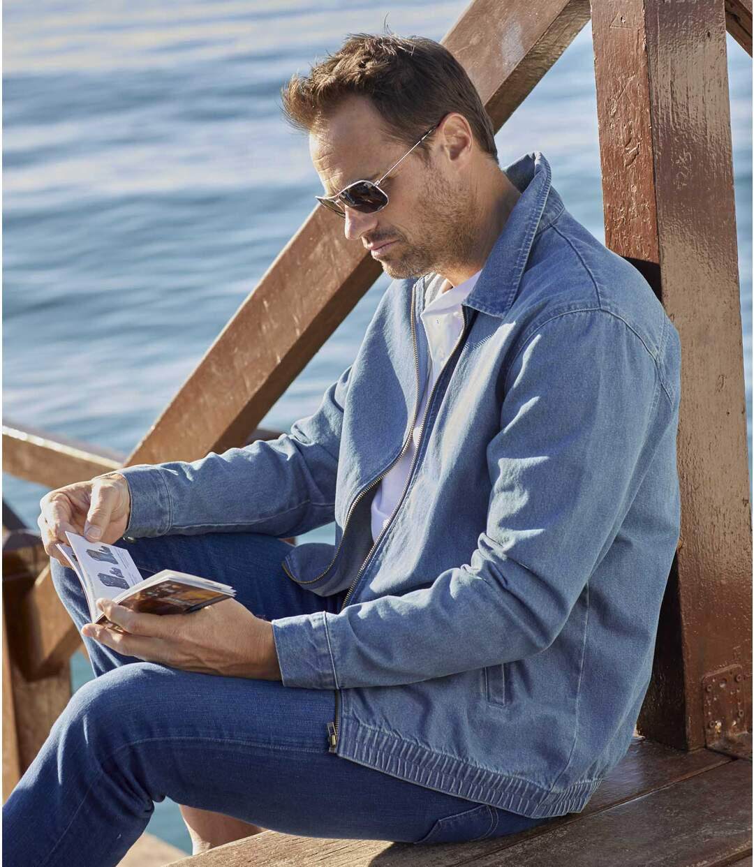 Sommerjacke im Jeans-Look