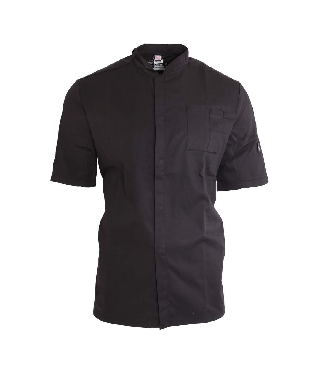 Le Chef Unisex ThermoCool Chefs Prep Jacket (Black/Black) - UTPC2704