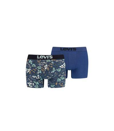 LEVI'S Lot de 2 Boxers Homme Coton PECTOLITE FLOWER Bleu